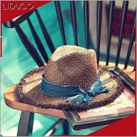 Promotional summer panama beach body material straw sombrero hat
