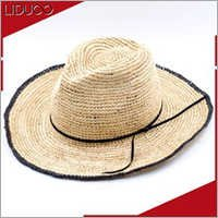Mexican women sun floppy folding cowboy crochet straw farmer hats