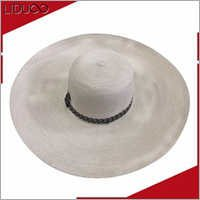 Fancy bamboo felt fedora for women wholesale straw cowboy hats