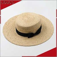 Ladies mexican plain felt fedora boater decorate custom beach hats