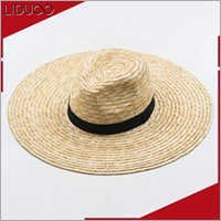 Custom promotional summer floppy wide brim straw ladis sun hat