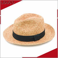 Straw Hat With Custom Printed Hat Band
