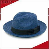 Promotional mens summer sun club folding panama wholesale straw hats