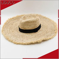 wholesale sun floppy wide brim seagrass boater raffia straw hat