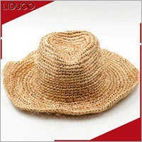 Custom summer kids floppy trilby crochet bands boonie sun hat