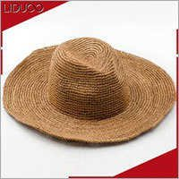 Promotional summer ladies baby trilby crochet hawaiian straw hat