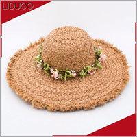 Cheap women summer beach floppy de paille panama straw chapeau