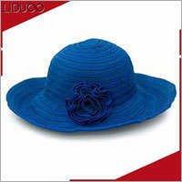 Wholesale women party carnival weddings sinamay make church hats
