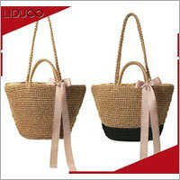 ladies beach utility quilted wide strap handbag straw tote bag