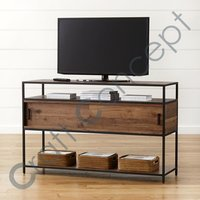 WOOD & METAL TV CABINET