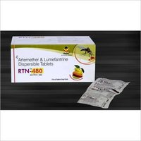 Artemether 80 mg + Lumifantrine 480 mg. (Dispersible tablet)