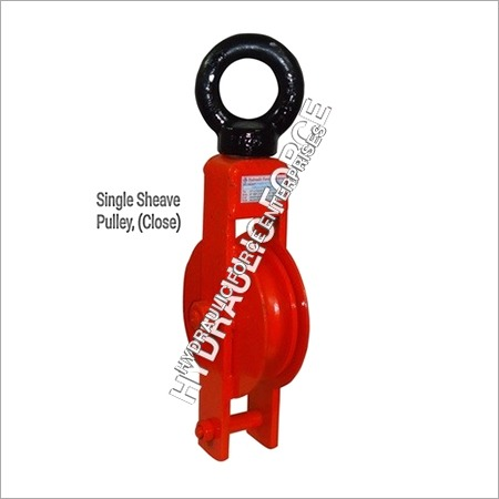 Single Sheave pulley closed type with eye Hook