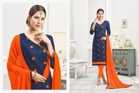 COTTON PRINTED SALWAR SUITS WITH BORDER