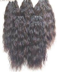 100% Indian Temple Donated Natural Indian Natural Color Wavy Human Hair