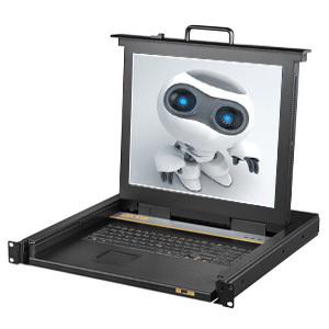 1port / 4port /8port /16port 15 inch USB +PS/2 lcd kvm console