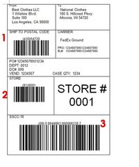 Shipping Barcode Stickers