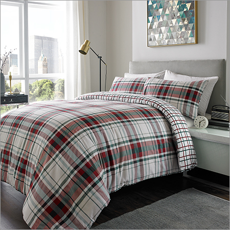 Brushed Checks Bed Sheets