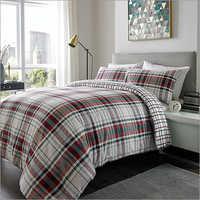 Brushed Checks Bed Sheets