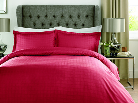 Check Red Color Bed Sheet