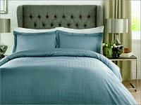 Check Smokey Blue Bed Sheet