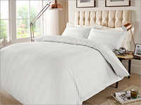 Stripe White Fancy Bed Sheet