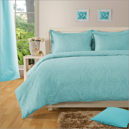 Paisly Cotton Blue Bed Sheet