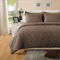 Paisly Cotton Brown Bed Sheet