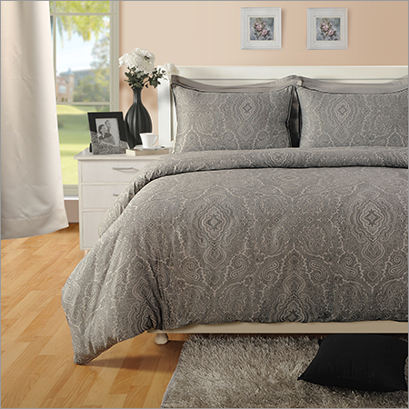 Paisly Cotton Grey Bed Sheet