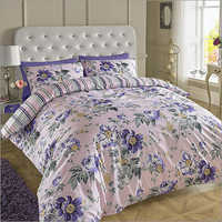 Light Pink Printed Bed Sheets