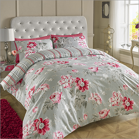 Silver Grey Printed Bed Sheets