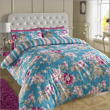 Teal Printed Bed Sheets