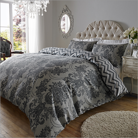 Vintage Charcoal Black Bed Sheet