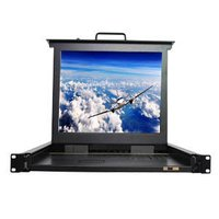 19'' 1U rack mount 15'' LED KVM switch