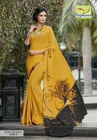 Trendy Crepe Printed Saree