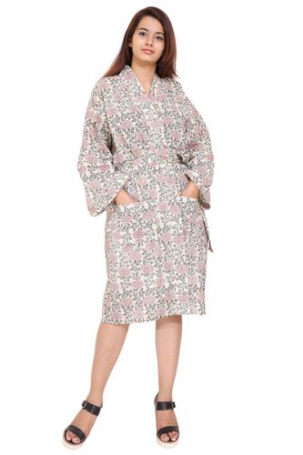 Robe Kimono Hand Block Print
