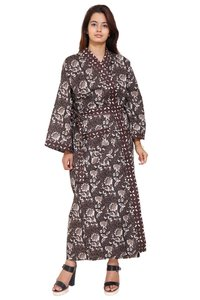 Cotton Long Kimono Robe Browen
