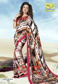 Abstract Printed Ladies Saree