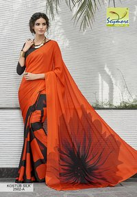Big Floral Printed Saree
