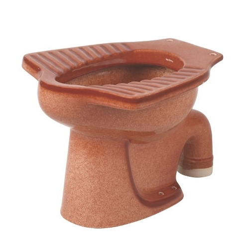 Anglo Indian Red Brown Water Closet