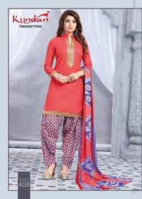 COTTON PRINTED PATIYALA DRESS MATERIALS