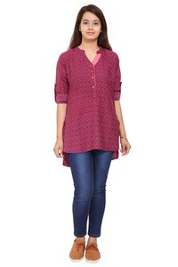 Pink Printed Shirt For Women