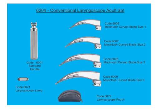 Conventional Laryngoscope Adult Set