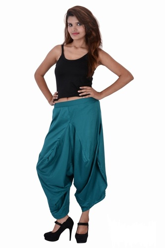 Rayon Solid Casual Wear C.Green Color Yoga Trouser