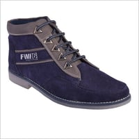 Men's Blue Leather Boot