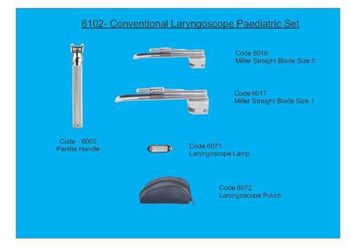 Conventional Laryngoscope Paediatric Set