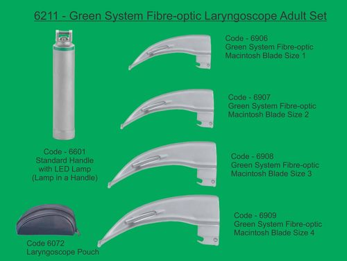 Green System F/O Laryngoscope Adult Set