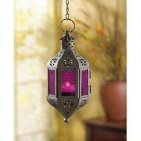 Gifts & Decor Mystical Decorative Candle Lantern Light Metal Glass