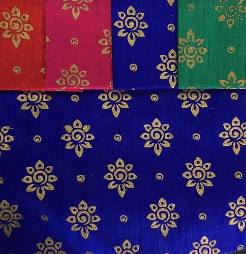 Poly Silk Foil Prints Fabric