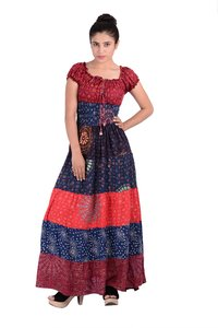 Rayon Mandala Long Dress