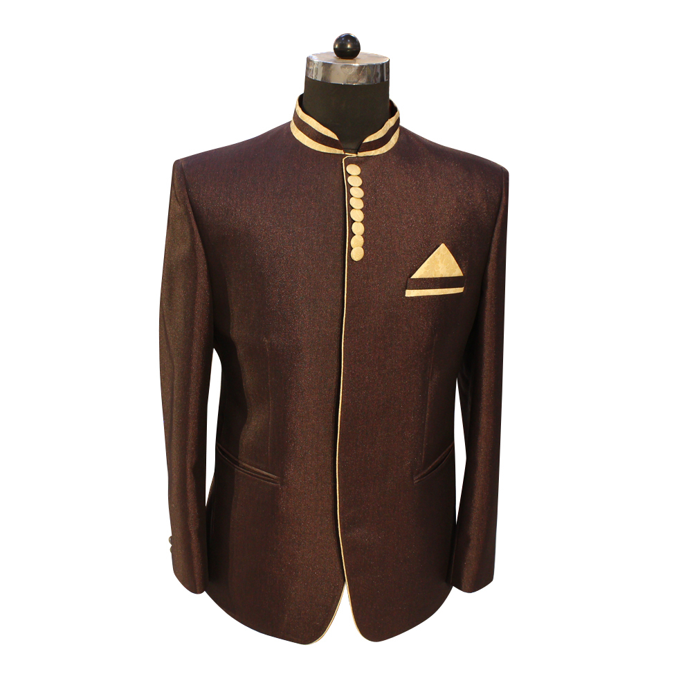 Men's Designer Jodhpuri Wine Color Suit